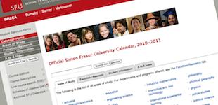 SFU Calendar: cover
