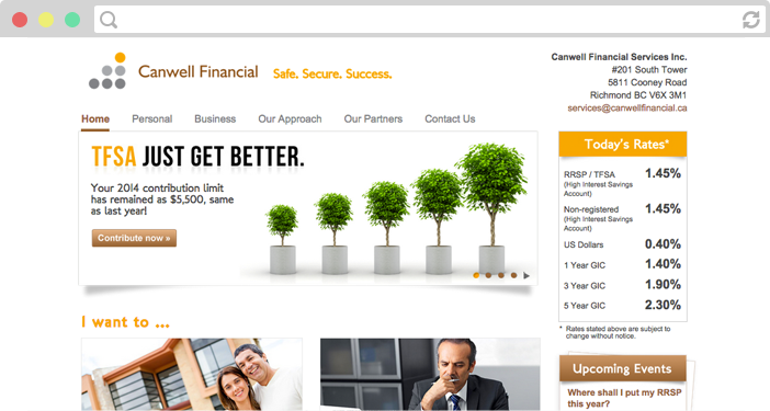 Canwell Financial Services - by corey lee designs
