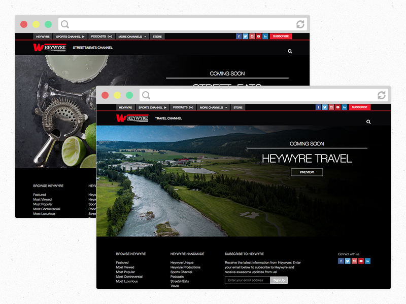 Heywyre - Coming Soon Pages